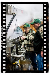 Boiling maple syrup brings multiple generations together.