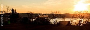 Sunset Over the Tappanzee by Richard D. Cole